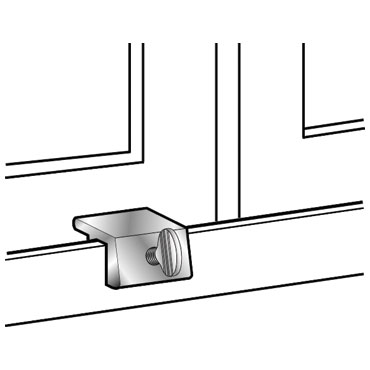 Mag 8732 Sliding Window Lock With Security Available In Aluminum White