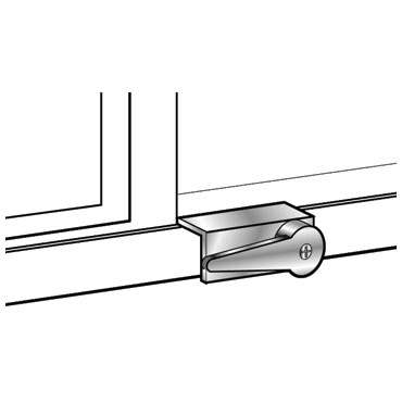 Mag 8824 Sliding Door Lock With Bolt Available In Aluminum White