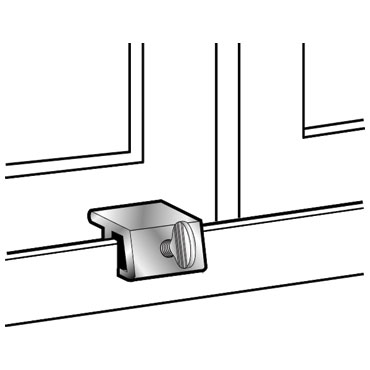 Mag 8743 No Mar Sliding Window Lock With Rubber Insert Available In Aluminum Only