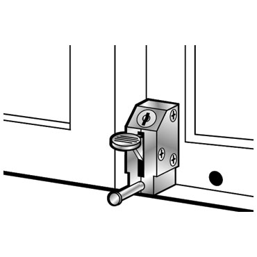 MAG 8756   Keyed Patio Door Lock (Inside Or Outside Use)   Available In  Aluminum Only.